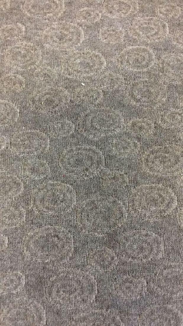 Tone on Tone Celadon Green Wool Carpet - 9