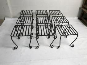 Lot of 9 iron stools