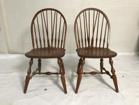 Pair Windsor Style Chairs