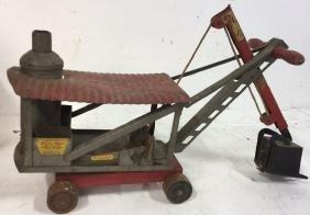 Antique Keystone Ride Em Toy Steam Shovel