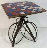 Adirondack Twig Table Tile Top