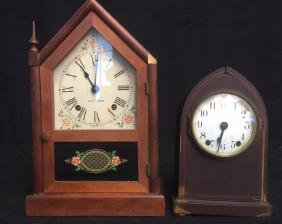 Group Lot Two Vintage Seth Thomas Keywound Clock