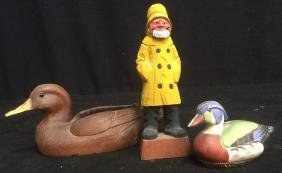 Group Lot Ducks and Nautical Figurine