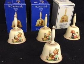 Four Goebel Hummel Bells Lot of 4 Hummel bells, three