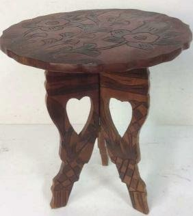 Hand Carved 2 Piece End Table Side table, End Table