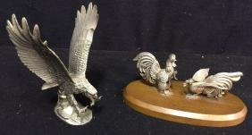 Pewter Bird Figurines 2 pewter figurines, one of eagle