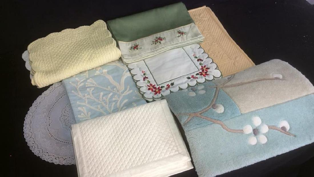 Group of Table Linens and More Three 4-piece sets of