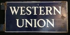 Circa 1950 Metal Western Union Sign Rescued from an