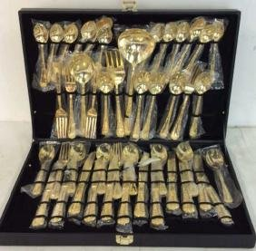 Like New Vermeile Flatware Service for 12 Gold ware