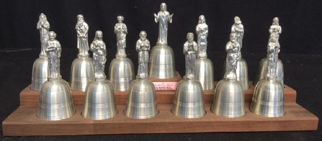 English Pewter Danbury Mint Apostle Bells