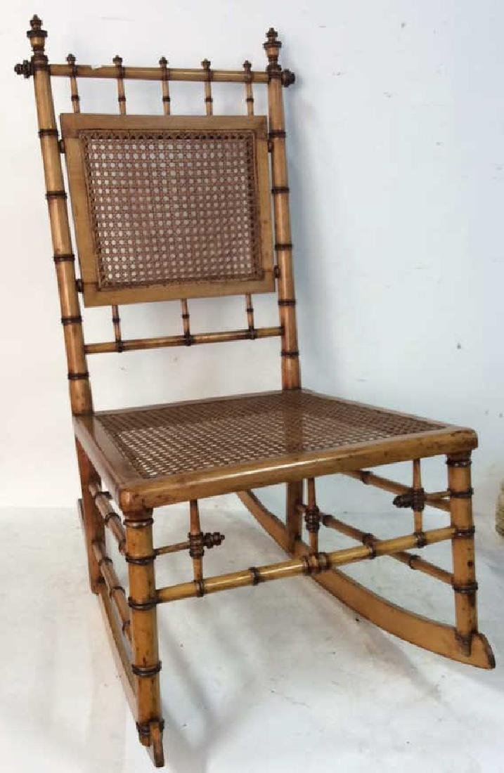 Aesthetic Movement Faux Bamboo Rocker