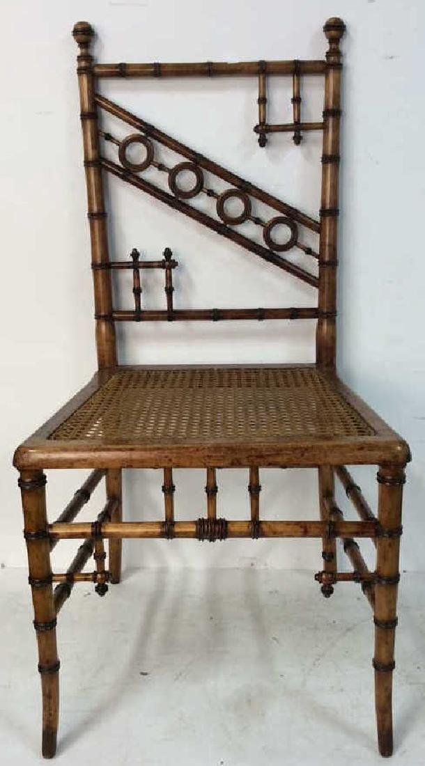 Aesthetic Movement Faux Bamboo Side Chair