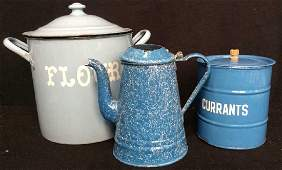 Group 3 Antique Enamelware Items