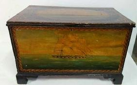 Antique Hand Painted Mariner Chest
