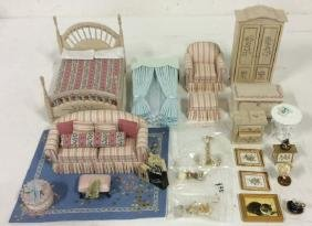 Vintage Master Bedroom Dollhouse Accessories
