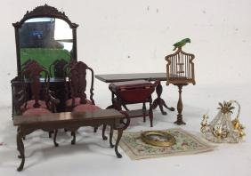 Vintage Dining Room Dollhouse Accessories