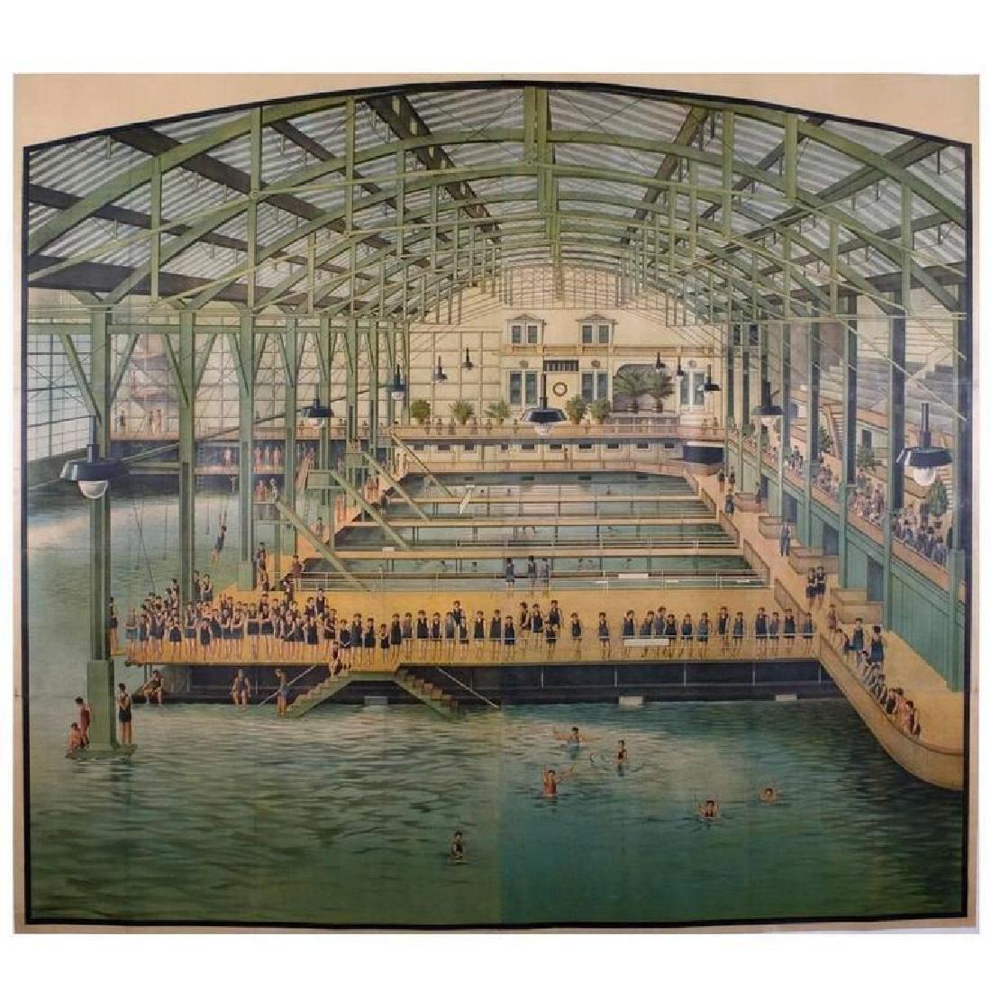 Original Framed Sutro Baths San Franciso Ad Poster