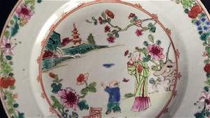 Antique Asian Famille Rose Chinese Plate