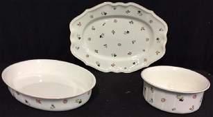 Group Lot Villeroy & Boch Porcelain Serving Pieces