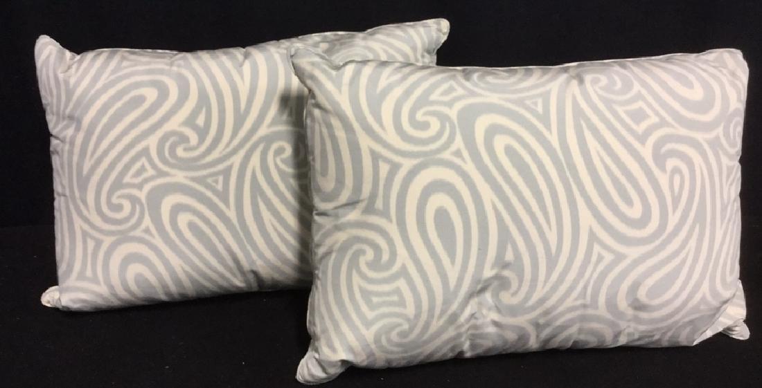 Pair Paisley Print Rectangular Sofa Throw pillows