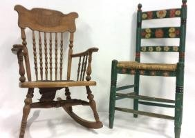 Two Antique Side Chairs