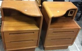 Pair Mid Century Style End Night Tables