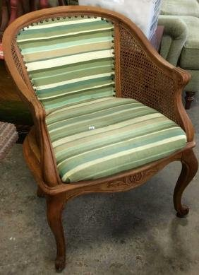 Caned Fruitwood Bergere Arm chair