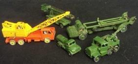 Group Lot 5 Dinky Metal Toy Military Trucks Crane