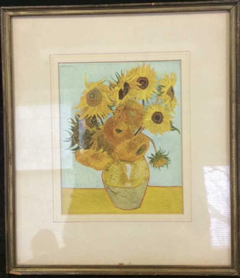 Framed Van Gogh Print Sunflowers