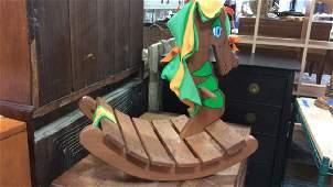 Wood Dragon Form Child's Rocking Toy
