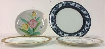 Set of Vintage China and Ceramic Dinner Plates