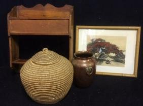 Group Lot of 4 Vintage Wall and Table Home Decor