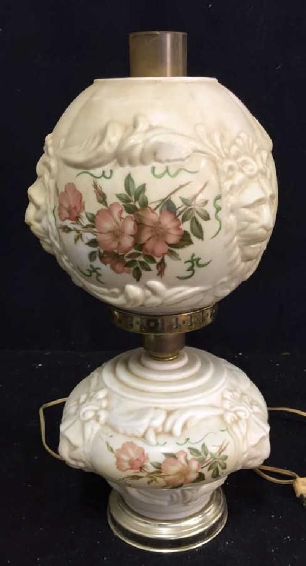 Vintage Hurricane Style Table Lamp