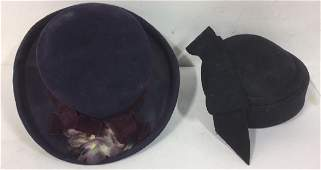 2 Vintage Ladies Hats