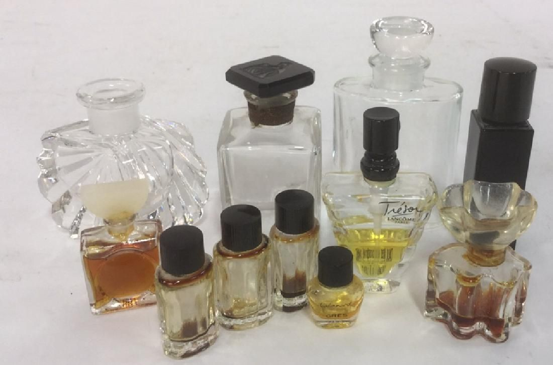 Lot 11 Vintage Collectible Crystal Perfume Bottles