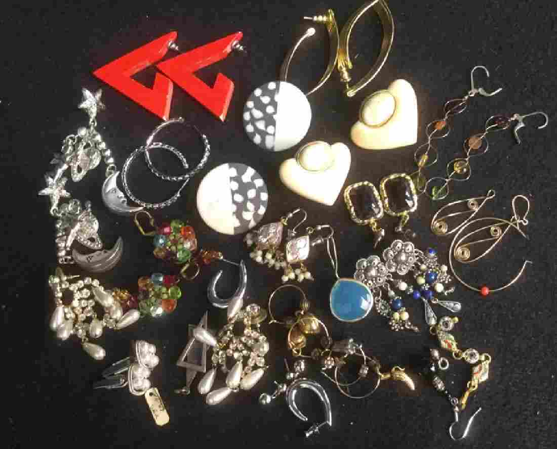 Group Lot Costume Jewelry Pierced Earrings