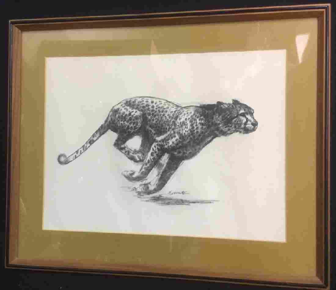 D. Schwartz Cheetah Original Signed Drawing
