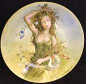 Girls Of The Season Limoge Plate By Guy Cambier