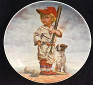 Gregory Perillo The Big Leaguer Collectible Plate