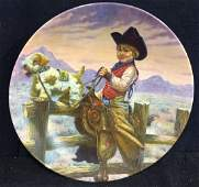 Rodeo Joe Collectible Plate By Gregory Perillo