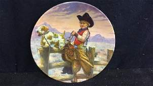 Gregory Perillo Rodeo Joe Collectible Plate