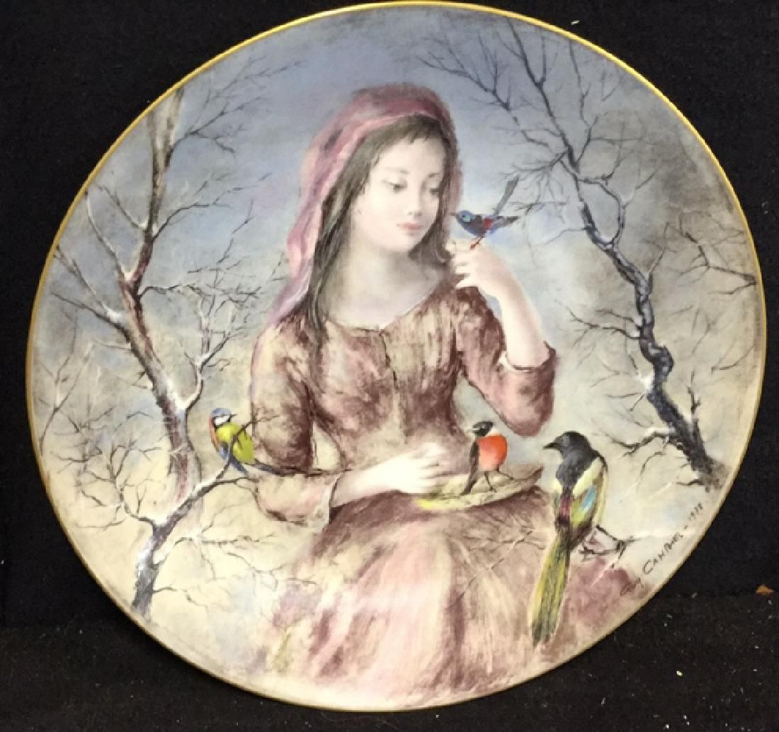 Girls Of The Season Limoge Plate By Guy Cambie