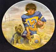 Gregory Perillo The Quarterback Collectible Plate