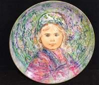 Edna Hibel Plate La Contessa Isabella