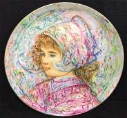 Edna Hibel Nobility of Children Collectible Plate