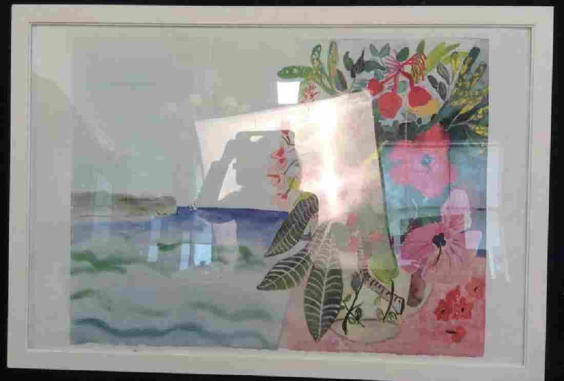 Signed Floral Watercolor Artwork