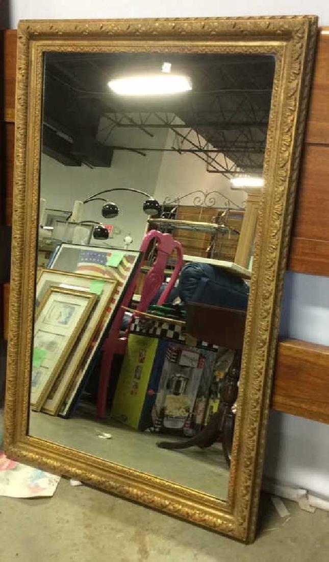 Vintage Gold Leafed Framed Mirror