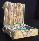 Fresh Water and Faux Pearl Jewelry w Box