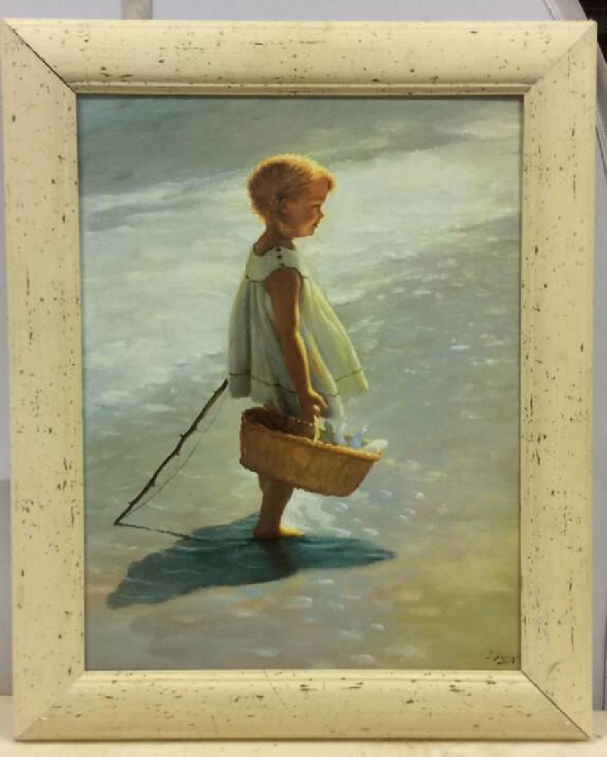 I Dividi Print on Canvas Girl on a Beach