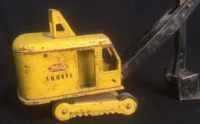 Vintage Steel Toy Tonka Tractor Bucket Shovel